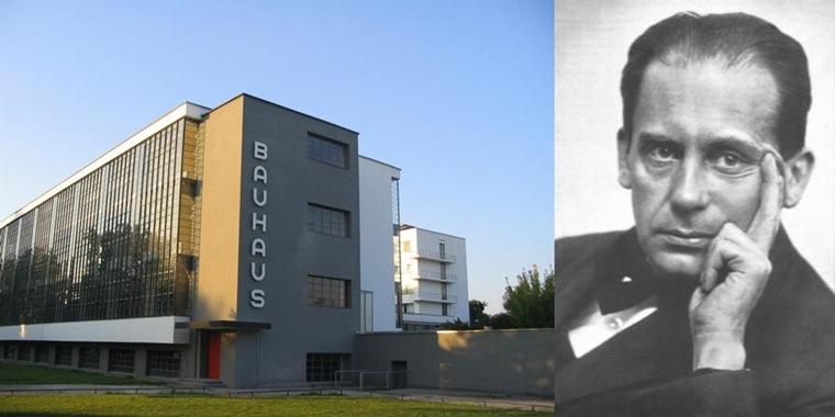 左:Bauhaus-Dessau Main Building;右:Walter Gropius, 1920