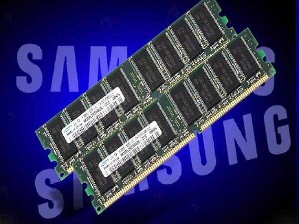 Samsung純正PC3200メモリー[512Mb2枚]