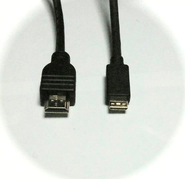 [長さ1m]mini_HDMI-HDMIケーブルVr1.3b