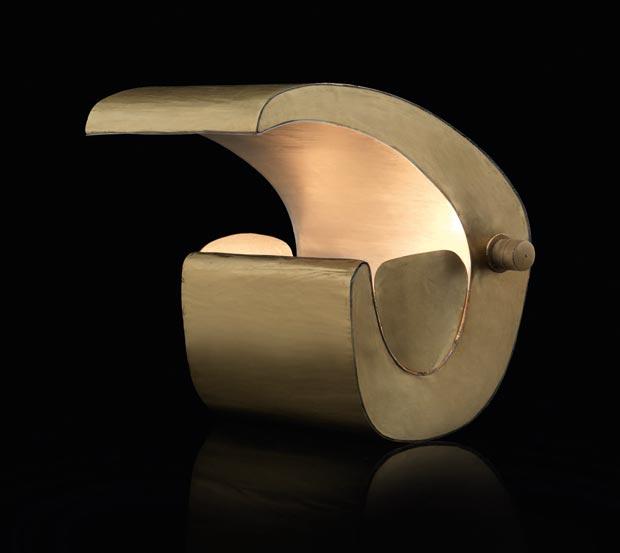 Luminaria Escargot de Le Corbusier, decoracion, diseño, iluminacion