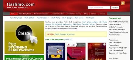 Flashサイトのテンプレートをダウンロードできるサイト