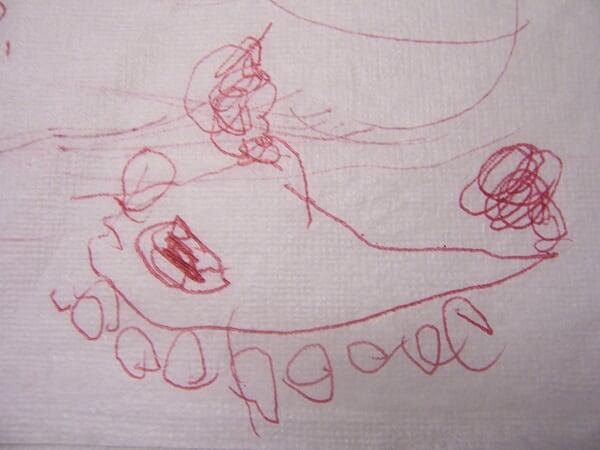 圆纸上的儿童画