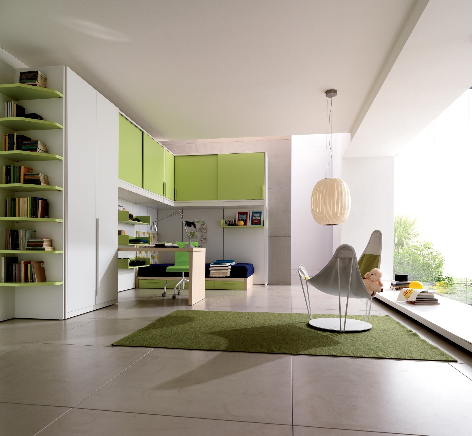 dormitorio, ideas, interiores, muebles