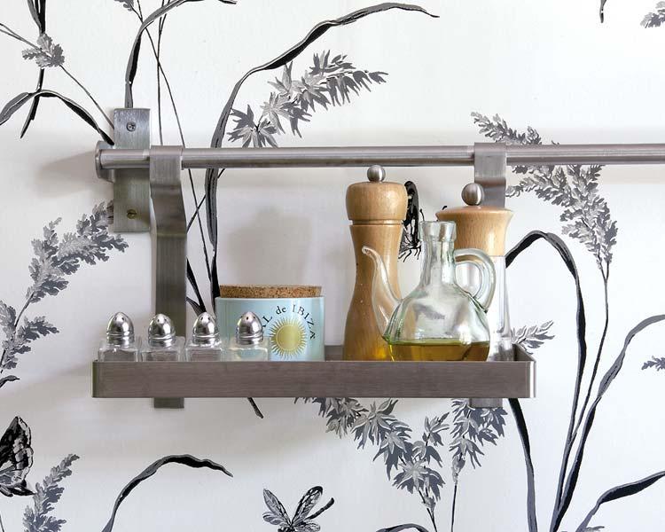 Decoración audaz, una cocina con papel pintado