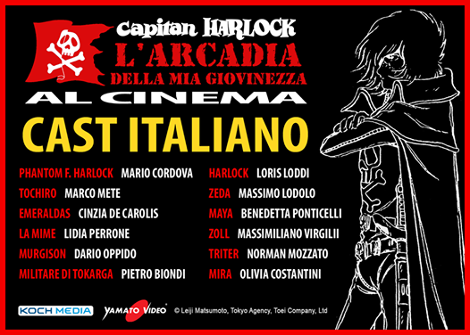capitan harlock cast italiano