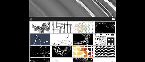 幾何学な動きをするFlashをダウンロードできるサイト