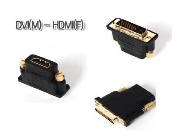 DVI(オス)--HDMI(メス)変換コネクター