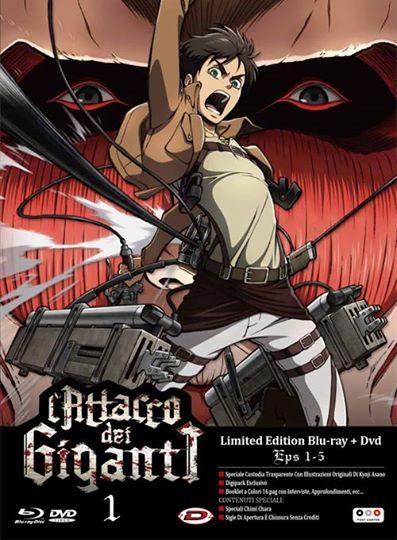l'attacco dei gianti dvd blu-ray milited edition